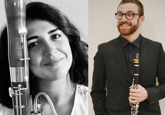 Eric Ortiz, clarinet. Esther Cerezo, bassoon. José Mardón, piano. Spring Concerts. Cycle Music in the Chapel. 12/06/2019. Centre Cultural La Nau. 19.30h